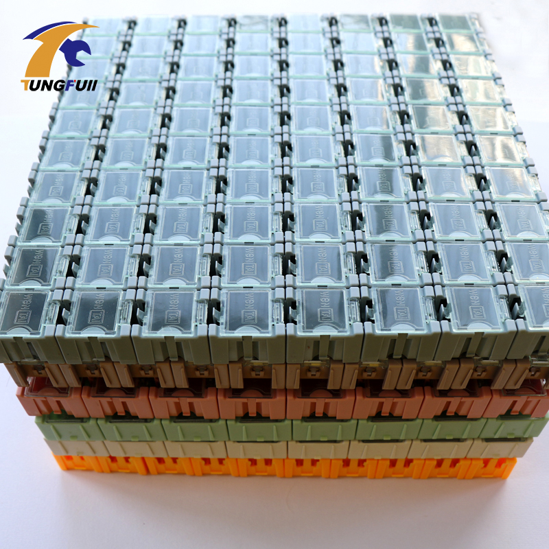 New & Genuine High quality 50pcs SMD SMT Electronic Component Mini Storage box High quality  and practical Jewelry storaged case lodestar electronic component box 8 section