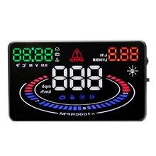 """E300 5.5 """"OBD2 автомобилей HUD GPS автомобилей Head Up Дисплей Температура overspeed сигнализации Overspeed Предупреждение Лобовое стекло сигнализации проектор Системы"""