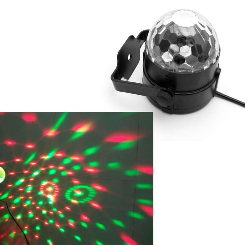 YAM Voice Control US Plug LED Stage Strobe Light Operated DJ Disco Party Club Stroboscope Colorful Stage Light Effects dj control