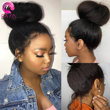 EVA 360 Lace Frontal Wig Pre Plucked With Baby Hair Brazilian Yaki Straight Lace Front Human Hair Wigs For Black Women Remy Hair factory price silk top lace front wig virgin brazilian hair wigs for black women yaki straight full lace wig with baby hair