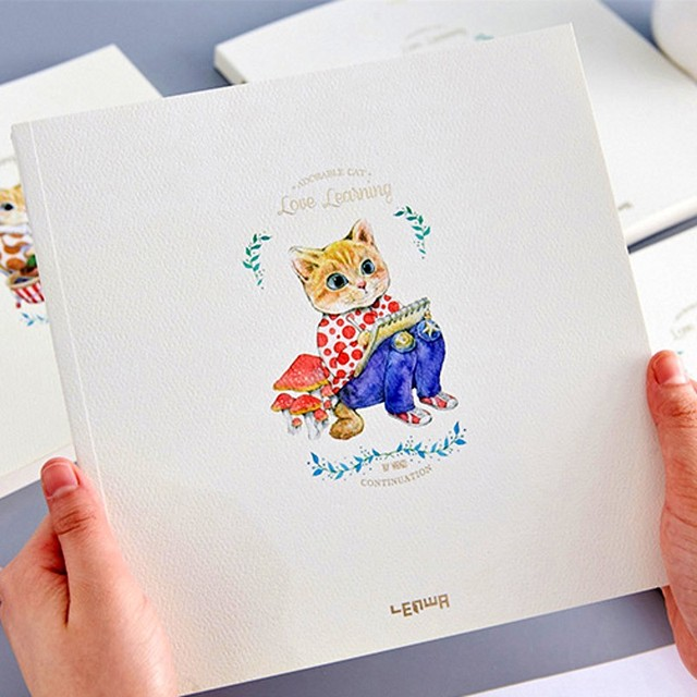 Fournitures Scolaires Kawaii Notebook Sketchbook Mignon Chats Page