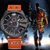 SKONE Men S Chronograph Stopwatch Sport Quartz Watch Man Fashion Casual Leather Wrist Watches Relogio Masculino