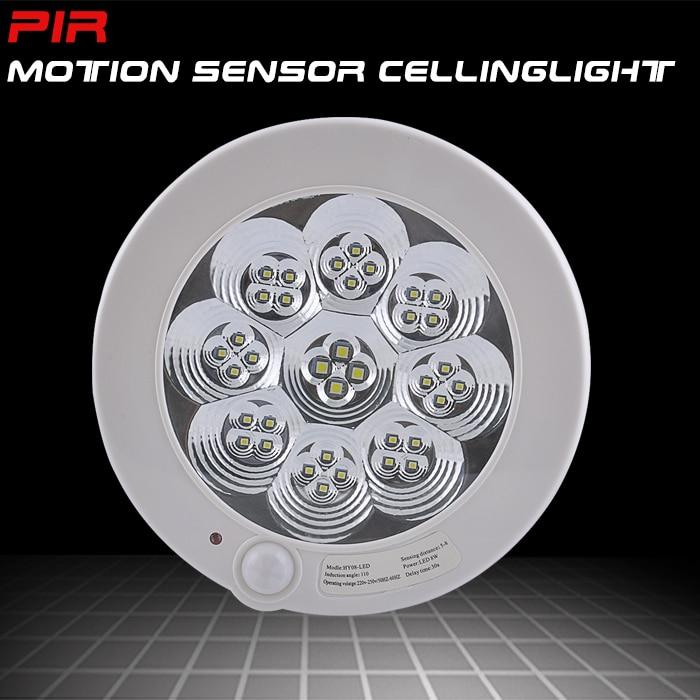 Led Ceiling Lights With Sensor: Sensky 220V AC 7W PIR Motion Sensor Led Ceiling Light Lamp White Modern Ceiling Lamp Led