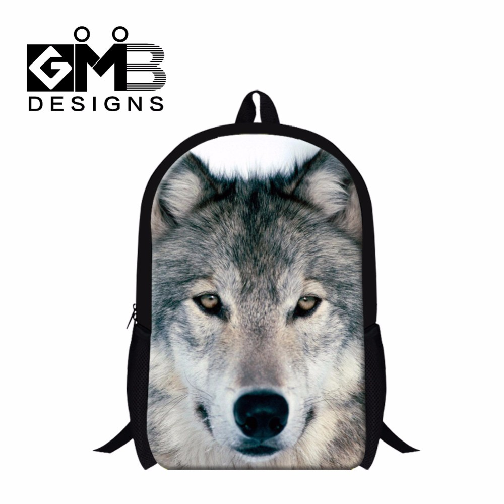 wolf backpack school bag for boys
