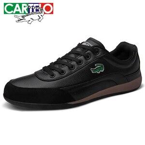 Image 2 - Cartelo新メンズカジュアルシューズ通気性ウェアラブル靴快適なホワイト丸頭ストラップフラットsnekaers
