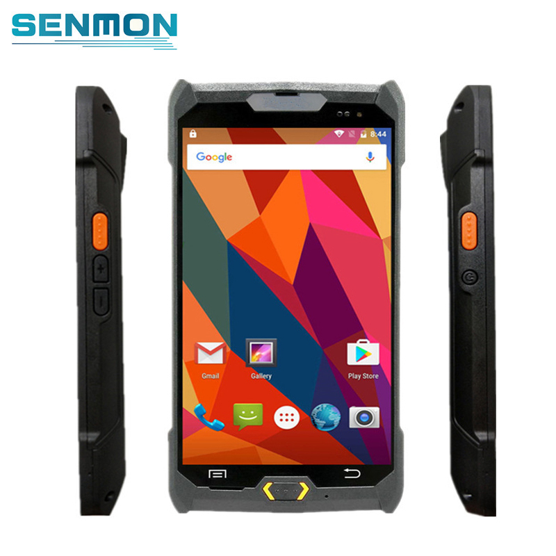 Android 6.0 PDA Robusto 4G Handheld POS Terminal 1D 2D NFC Leitor RFID Barcode Scanner Sem Fio Bluetooth Wi-fi GPS coletor de dados