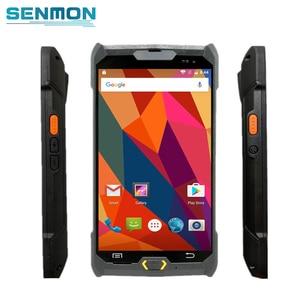 Image 1 - Android 6.0 robuste PDA 4G Terminal de poche 1D 2D NFC RFID lecteur sans fil lecteur de codes à barres Wifi Bluetooth GPS collecteur de données
