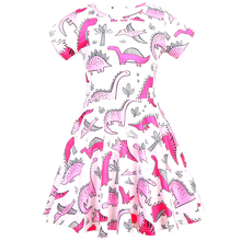 Summer Baby girl clothes dinosaur dress jacquard dresses for Girls Halloween costume cosplay Party Vestidos  1200