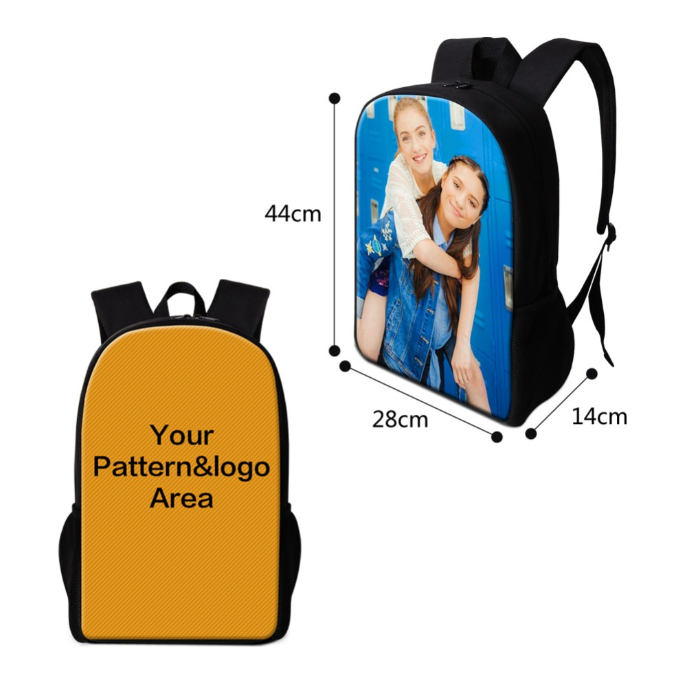 Dropshipping Custom Logo Pattern Design Bags Customized Designer Backpack MOQ One Personalized Luggage Cover Trendy Printing