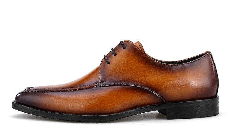 Schwarzes kakifarbig Herren Mode Kleid Hohe Echtes Up Casual Qyfcioufu Qualität Designer Handgemachte Leder 100 Marke Arbeit Schuhe Spitze Oxfords Luxus aqHvRUn