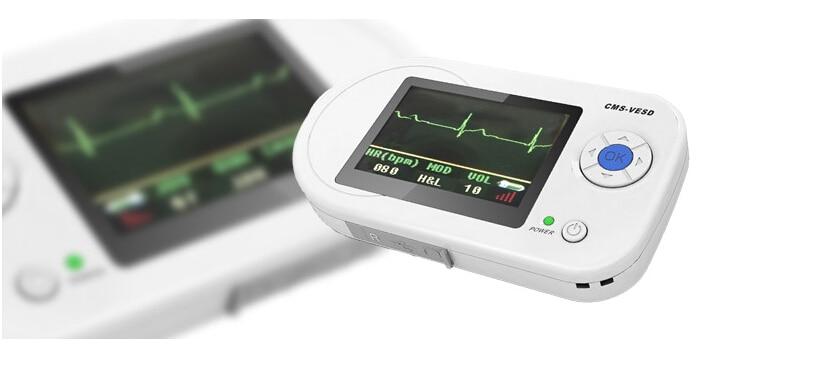CMS-VESD Multi-functional Visual Stethoscope Free Earphone ECG PR Heart Rate SpO2 PC Software 2.4''LCD with oxieter probe цены онлайн