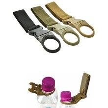 Webbing Belt Clip Buckle Bushcraft Water-Bottle-Holder Tactical-Gear EDC Military Camp