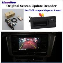 Liandlee For Volkswagen VW Magotan Passat Original Display Update System Car Reverse Parking Camera Digital Decoder Rear camera