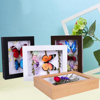 Photo Frame Thickening Picture Frame Vintage Specimen Photo Frame Dried Flowers Home Decor Insect Specimen Photo