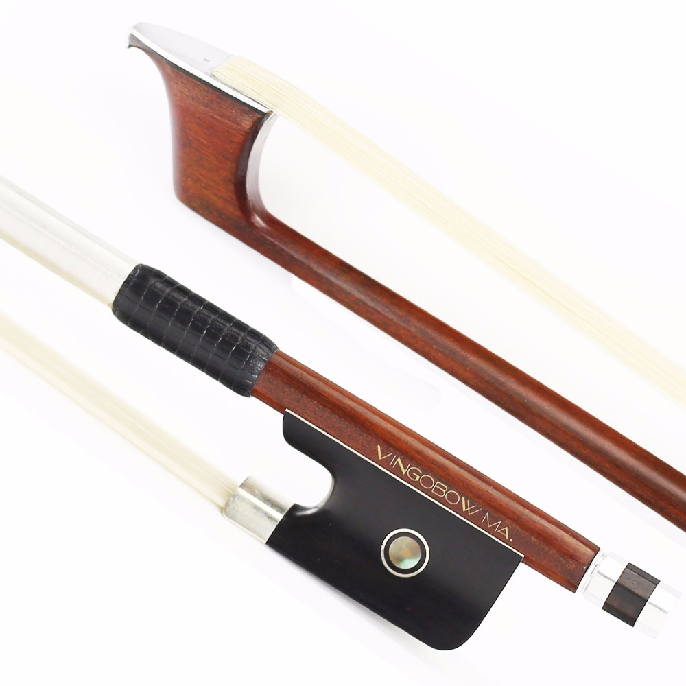 890C 4/4 Size Master Pernambuco CELLO BOW Ebony Frog Sterling Silver Mounted and Tip Natural Horsehair Cello Parts Parts Accessories