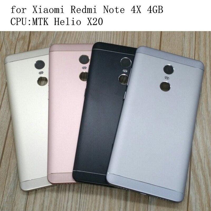 Original Pour Xiaomi Redmi Note 4X4 GB MTK Retour Batterie Porte Couvercle Du Boîtier Cas + Boutons Batterie Porte remplacement Pièces De Rechange