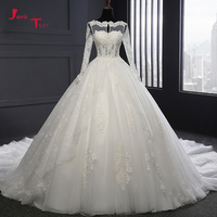 Jark Tozr 2017 New Design Open Back Long Sleeve Gorgeous China Bridal Gown Vestido De Novia