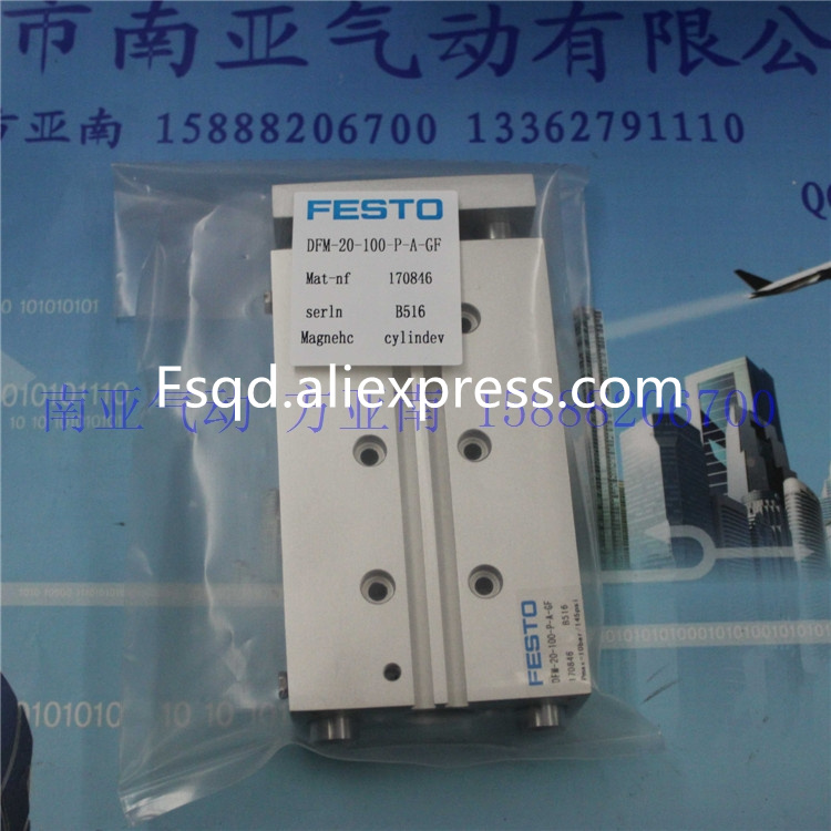 DFM-20-100-P-A-GF FESTO Pneumatic cylinder with guide bar air cylinder air tools  DFM series advul 16 20 p a festo thin type cylinder with air cushion air cylinder pneumatic component air tools