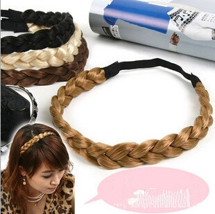 Belly Dance Plait Headwear Hair Decoration Braid Wig Pigtail Elastic Head Band Rope fishtail braid with hair accessory