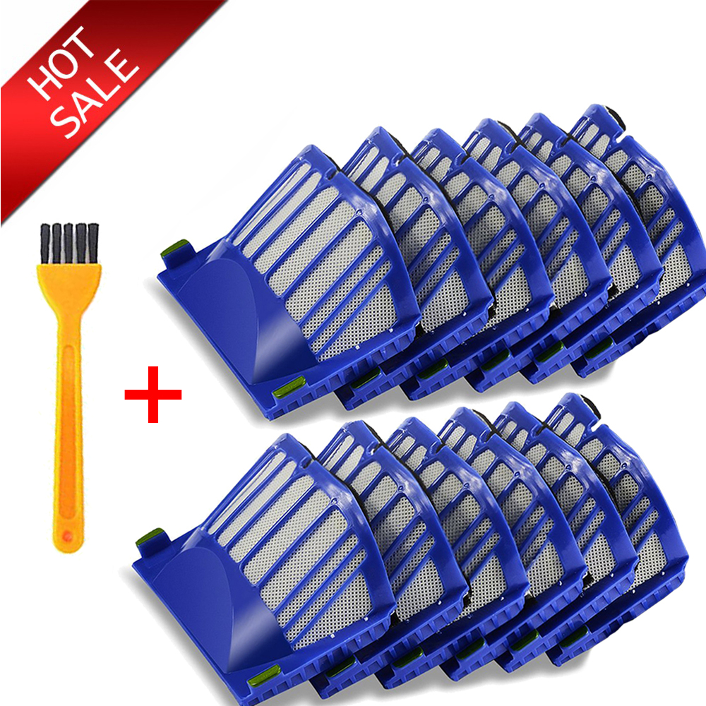 12Pcs HEPA Brush Filter Replacement For IRobot Roomba 500 600 Series 536 550 551 620 650 Vacuum Cleaner Parts Accessories