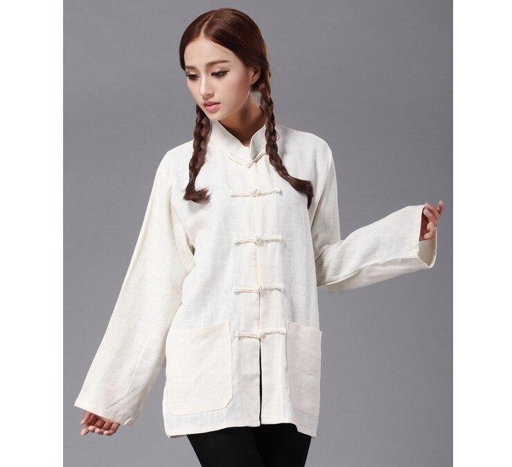 Chemisier style chinois Original col mandarin grenouille coton lin unisexe ample oversize chemisier taille L-3XL 5 couleurs
