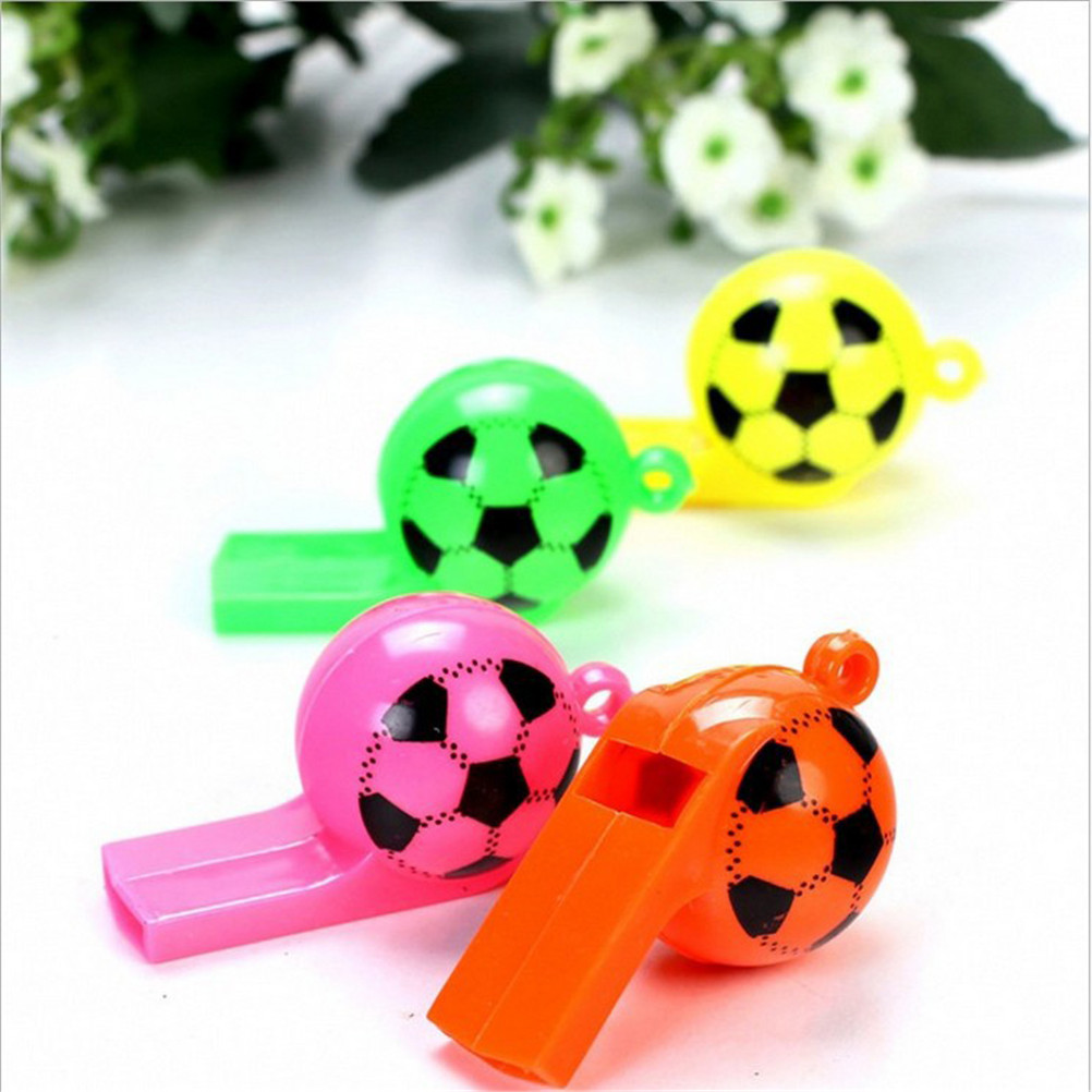 Professional Sale 8pcs/lot Kids Children Training Football Whistle Plastic Whistles Toys Survival Outdoor Cheerleading Toys A Complete Range Of Specifications Outdoor Fun & Sports Toy Balls