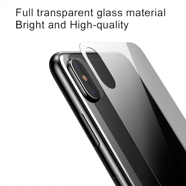 Baseus Transparent Back Screen Protector For iPhone Xs Max Xsmax Tempered Glass Protective Film Toughened Glass For iPhoneXs Max