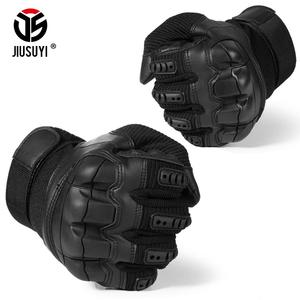 Image 5 - Touch Screen Military Tactical Rubber Hard Knuckle Full Finger Gloves Army Paintball Shooting Airsoft Bicycle PU Leather for Men