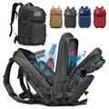 50L вместительный военный тактический рюкзак  Мужская армейская большая сумка  походный рюкзак для кемпинга  охотничий уличный водонепрониц...