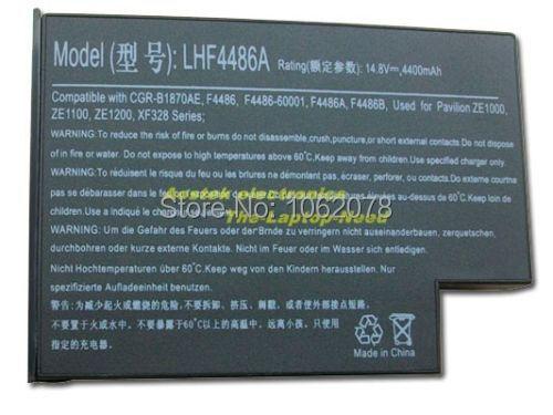 Nova Bateria para HP ZE1100 ZE1115 F4486 F4486 F4486A F4486B, F4486-60001,, F5398, F5398-60911, FPCBP57, FPCBP57BP,