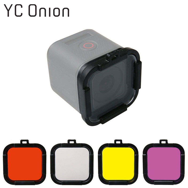 Waterproof Dive Filter 4 Color Diving Filter Red Purple Yellow Gray Lens Cap Lens Protector for Gopro Hero 4 Session 5 SessionWaterproof Dive Filter 4 Color Diving Filter Red Purple Yellow Gray Lens Cap Lens Protector for Gopro Hero 4 Session 5 Session