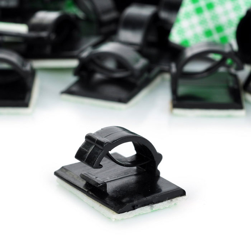 Genuine Adhesive Cable Clips Clamps Car Wire Tie Mount Drop Wire Holder for Car/Office/Home (45-50PCS)