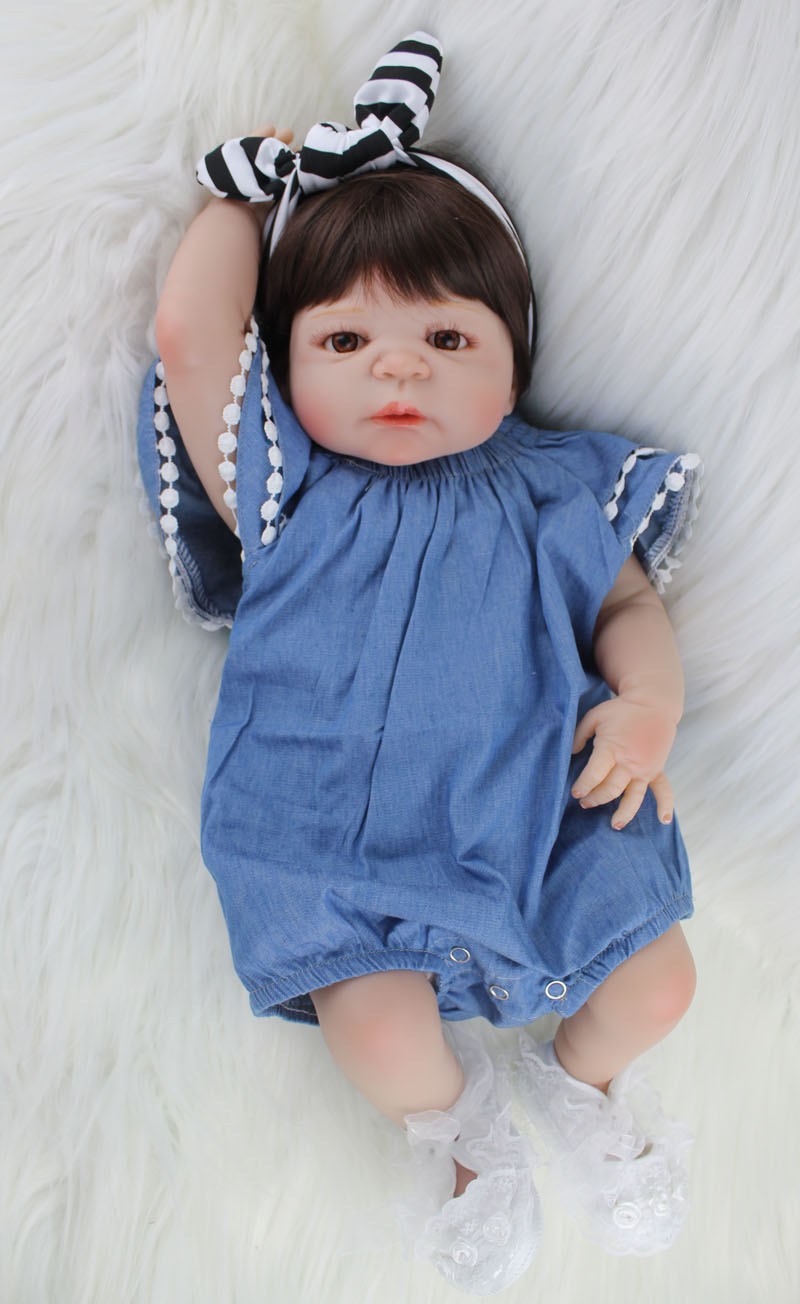 55cm Full Silicone Body Reborn Baby Dolls Like Real 22 ...