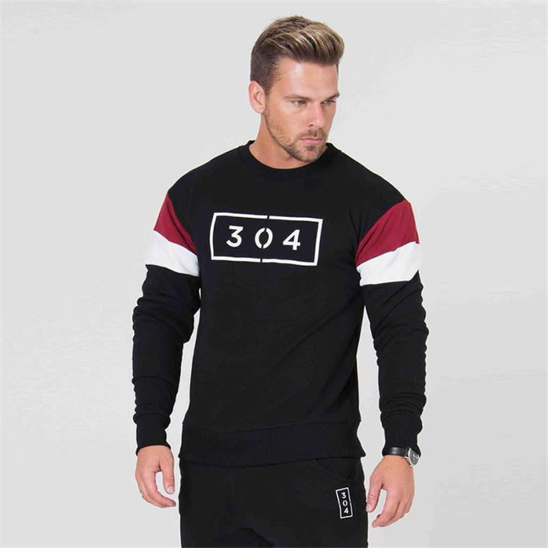Новые мужские с длинными рукавами 2018 бренд Мужская Спортивная одежда Мужская Уличная Модная рубашка для отдыха jogger мужская одежда