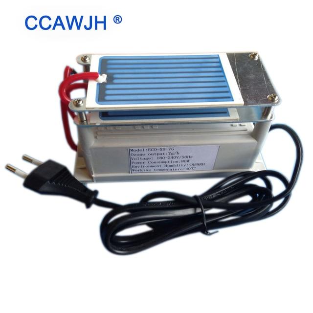 Hot Sell! 7g Ceramic Plate Ozone Generator / Generado De Ozono Quick Deodorization + Optional US/Euro Plug + Free Shipping