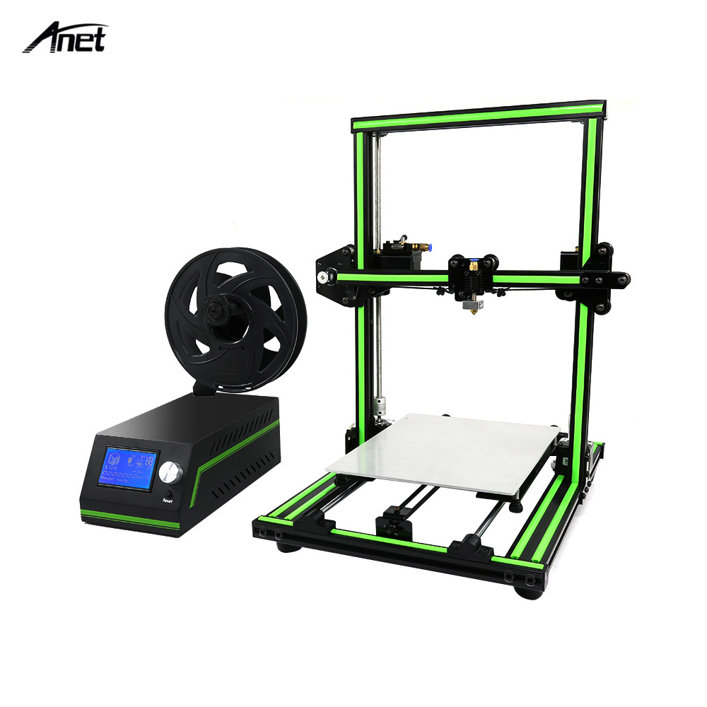 Anet E10 3D Printer DIY Kit Partially Assembled Multi-language Software Aluminum Alloy Frame Super Building Volume 8GB TF Card image