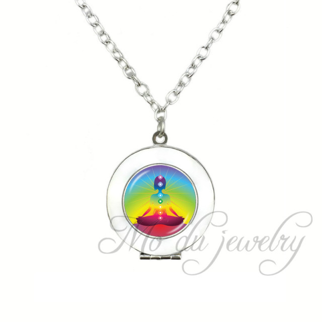 Rainbow chakra locket pendant purple space kundalini yoga meditation rainbow chakra locket pendant purple space kundalini yoga meditation reiki metaphysical pagan wiccan necklace healing jewelry aloadofball