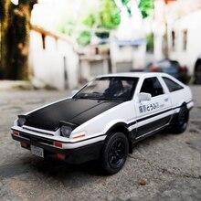 Начальная модель машины для литья под давлением из сплава AE86, игрушечный автомобиль RX7, оттягивающийся 1:28 свет для детей, игрушки для мальчиков
