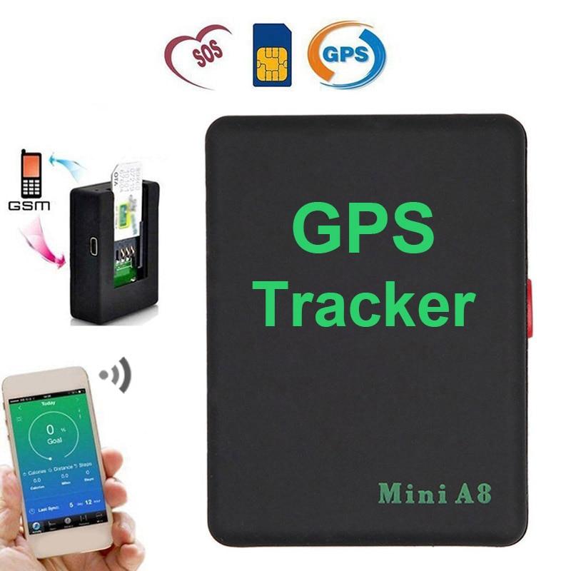 Mini A8 Rastreador GPS Localizador de Alarme Em Tempo Real Os Velhos Crianças Pet Car GSM GPRS Rastreamento LBS Suporte do Cartão SIM botão SOS Google map