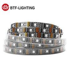 WS2801 listwy RGB Led światła 5V 1m 2m 3m 4m 5m 32 diody Led 2801 Chip Led światła indywidualnie adresowane 12mm pełne kolor marzeń IP30 67