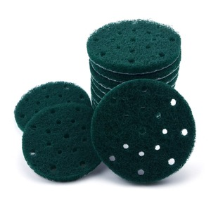 Image 4 - 12PCS 6 Inch 150mm 17 Hole Round Hook&Loop Industrial Scouring Pads Heavy Duty 240#/400#/1000# Nylon Polishing Pad for Cleaning