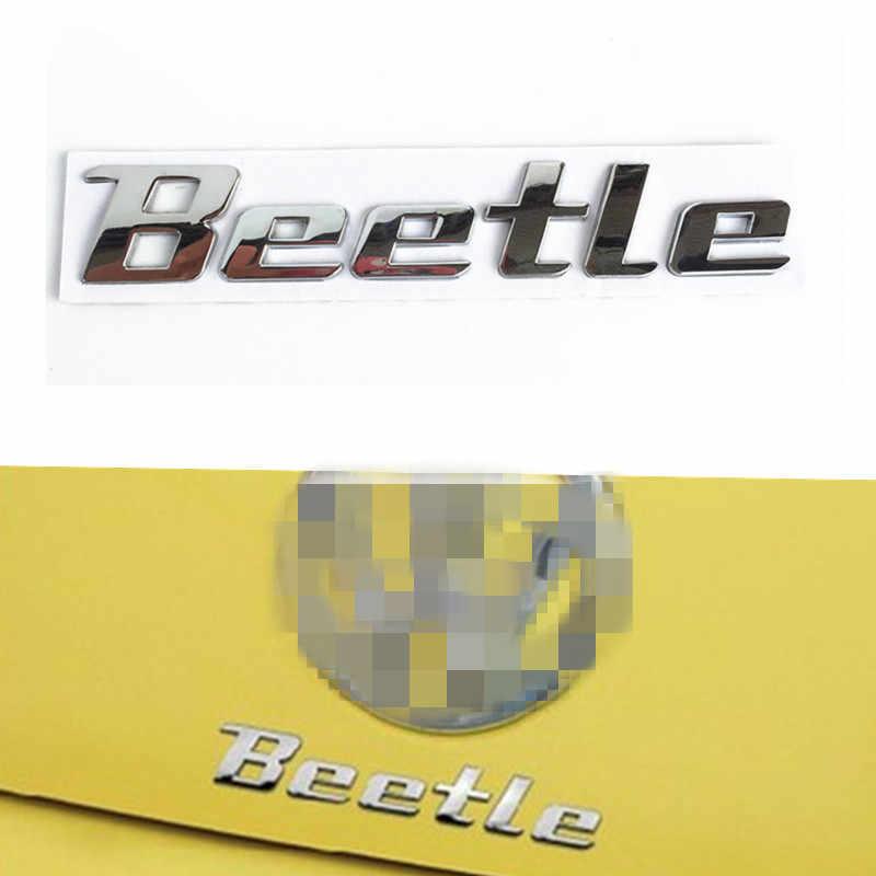 Newbee 3D Chrome metalowa naklejka chrząszcz znaczek z symbolem naklejka z logo dla volkswagena VW Beetle TDI TSI tylny bagażnik dekoracja samochodu