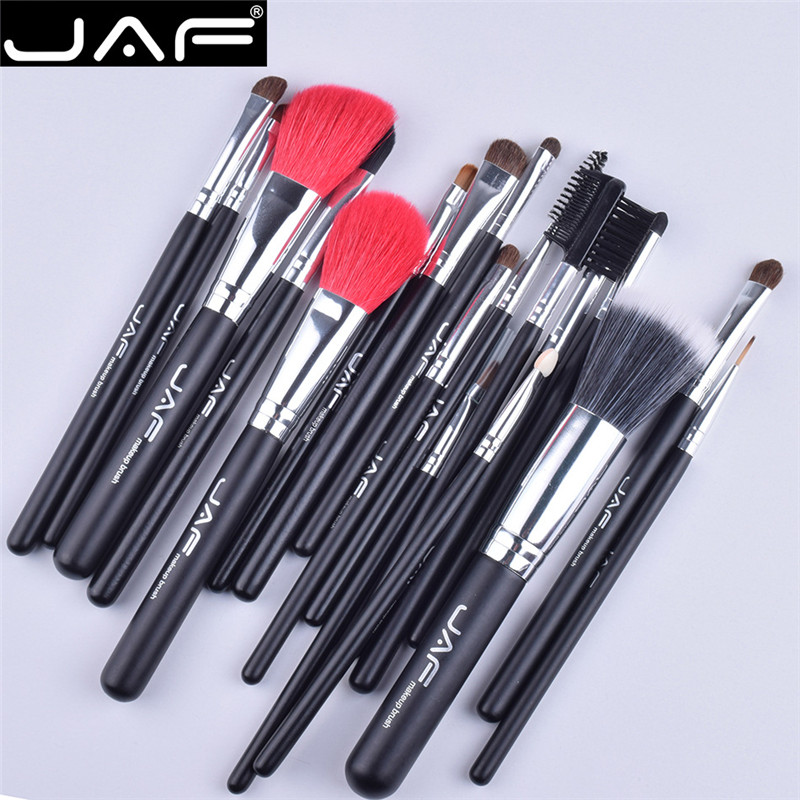 JAF Brand 18Pcs Makeup Brushes Set Professional Eyeshadow Blending Brush Powder Foundation Eyebrow Lip Eyeliner Brush Tool Kits