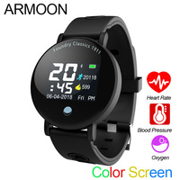 Smart Watch Y6 Men Watch Sleep Monitor Fitness Tracker Heart Rate Smartband Blood Pressure Band Color Screen Round Wristwatch