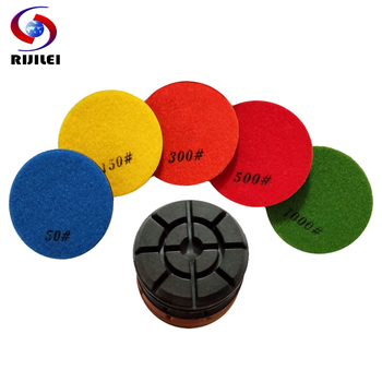 RIJILEI 7PCS/Set 4Inch Diamond Polishing Pad 100mm Concrete Floor Polishing Pads Terrazzo Ceramic Restoration Grinding Disc HF10 rijilei 7pcs set 5inch white diamond polishing pad 125mm wet polishing pads for stone concrete floor polishing tool hc15