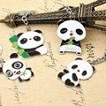 Lindo Panda de la Historieta Llavero Llaveros Regalos Personalizados de Metal Llavero Chaveiro Car Key Holder Llavero Letras de Encargo 2KC06