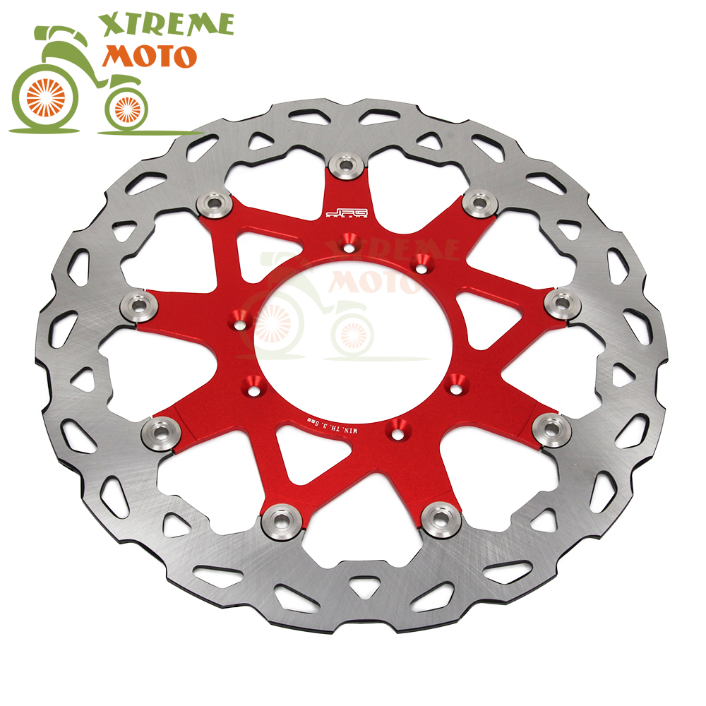 320MM Front Wavy Floating Brake Disc Rotor For Honda CR 125 250 500 CRF250X 250R 450R 230F 450X Enduro Motocross Supermoto 270mm front brake disc rotor for cr 125 250 500 crf 250r 250x 450x 450r 230f motocross supermoto enduro dirt bike off road