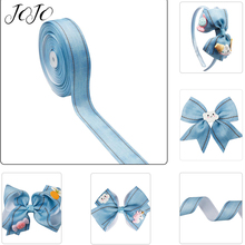 JOJO BOWS 38mm 5y Cloth Ribbon For Craft Solid Denim Webbing Needlework DIY Hairbows Tape Apparel Sewing Material Decoration