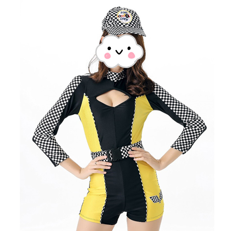 Campus Meeting Costume Racing Driver Cheering Squad Cheerleaders Clothes Car Show Girl Costume Group Performance Bodysuit