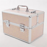 New Professional Cosmetic Box Waterproof Makeup Box Suitcase Popular Cometic Travel Bag Make Up Organizer Cosmetic Toolbox Large